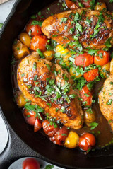 Herb Roasted Chicken and Tomatoes