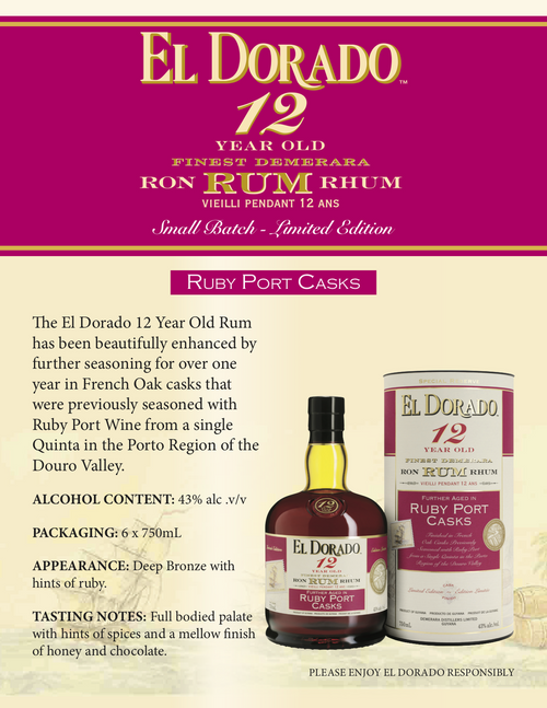 El Dorado 12 Year old Ruby Port Rum