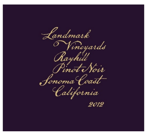 Landmark Rayhill Vineyard Pinot Noir 2012
