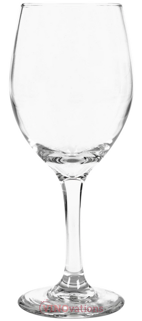 Engraved Classic Long Stem Wine Glasses 14oz