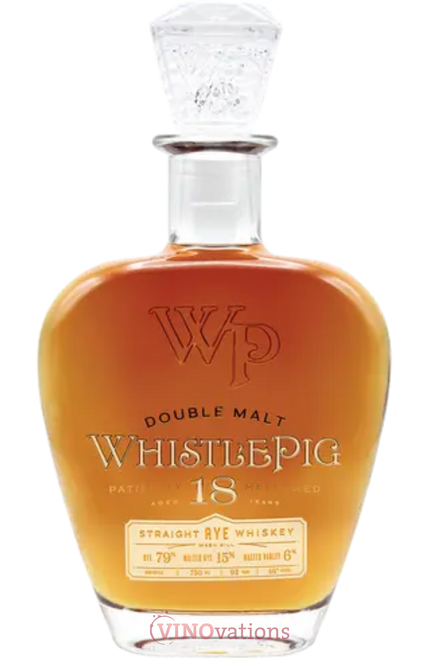 WhistlePig Double Malt 18 Year Old Straight Rye Whiskey 750ML