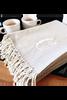 Mud Pie Herringbone Initial Throw Blanket
