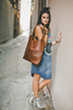 Oak River | Exclusive Leather Tote | Indio Whiskey