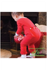 Monogrammed One-Piece Jammies | Solid Red | Baby & Kiddo