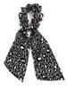 Cheetah Ribbon Scrunchie | Charcoal
