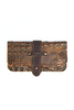Canoe | Women's Wallet in Brown Moc Croc