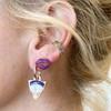 Karli Buxton | Eye See You Shield Earrings in Rose Gold