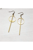 Dynamo | Gold Minimalist Geometric Earrings