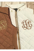 (M-L) Monogrammed Quilted Vest | 2 Colors