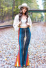 Just Like That | Rust/Teal Bell Bottoms