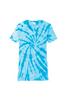 Monogrammed V-Neck Tie Dye Tee | Turquoise