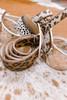 Genuine Leather Cowhide Belt in Rose Gold