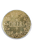 Anthropologie | Etched 4 Coasters | Gold