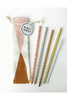 Triangle Reusable Straws - 6 Piece Set