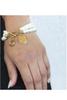 Monogrammed Pearl Bracelet | Gold Disc