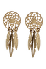 Love Poppy| Gold Dream Catcher Stud