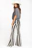 Stripe Bell Bottom Pants for Women, Name Brand.