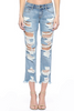 Destroyed Mid Rise Boyfriend Ripped Jeans. Available in Macon, GA & Marietta, GA.