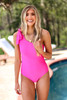 One Piece One Shoulder Swim | Pink