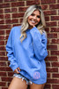 Monogrammed Comfort Colors Sweatshirt | Flo Blue