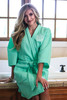 Monogrammed Spa Robe | Mint