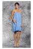 Monogrammed Spa Wrap | Sky Blue