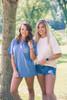 Monogrammed Short Sleeve Comfort Colors   Blue Jean