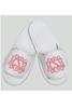 Monogrammed White Velcro Adjustable Waffle Adult Slippers