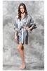 Monogrammed Satin Women's Robe