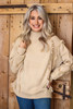 Tan Fringe Sweater at Ginny Marie's Ladies Boutique in Macon Georgia