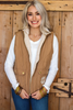 Camel Quilted Vest available in Macon GA