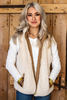 Camel Reversible Quilted Vest available in Macon GA
