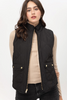 Black Reversible Quilted Vest available in Macon GA