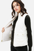 Ivory Reversible Quilted Vest available in Macon GA