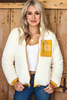 Sherpa Zip Up Jacket Ivory available in Macon GA