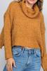 Mustard Slouchy Turtle Neck Sweater in Macon Georgia