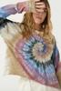 Autumn Tie Dye Long Sleeve Crop available in Macon GA & Marietta GA