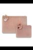 Mini Silicone Pouch in Rose Gold Confetti. Available in Macon, GA & Marietta, GA.