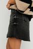 Free People | Brea Cut Off Skirt | Faded Black