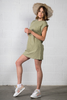 Better Off T-shirt Tunic Dress Olive available in Macon, GA