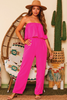 Sitting Pretty Strapless Wide Leg Jumpsuit available in Macon, GA