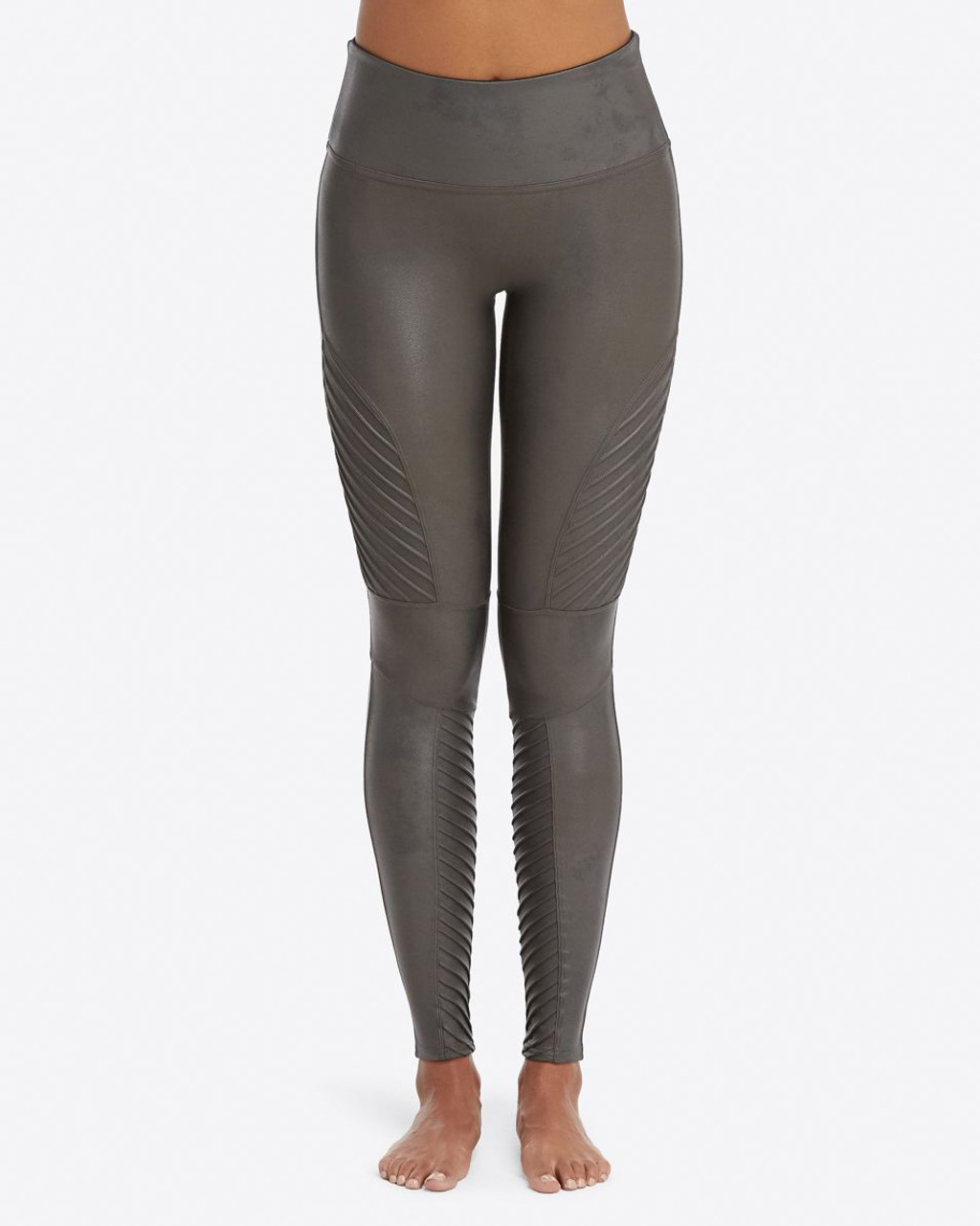 3485b0a4f72b8 Spanx | Faux Leather Moto Leggings in Gunmetal - Ginny Marie's