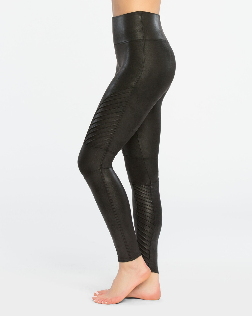 good outstanding features stylish design Spanx | Faux Leather Moto Leggings in Black