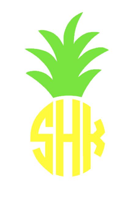 Monogram Pineapple Decal