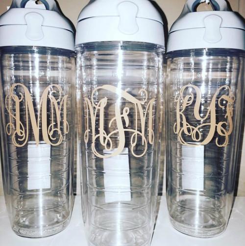 Monogrammed Tervis Water Bottle