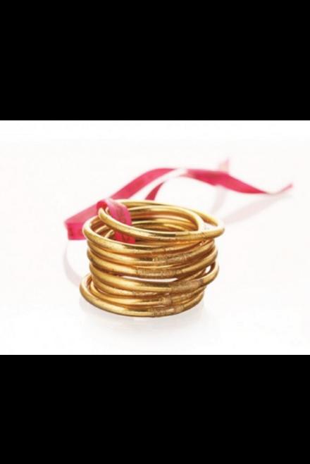 Budha Girl | Gold Bangles set of 9