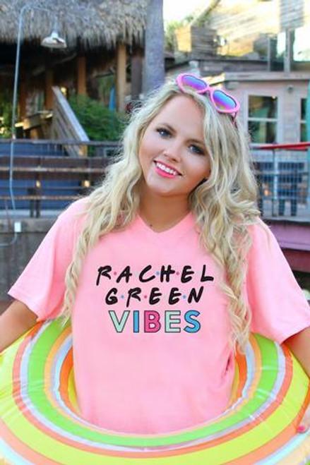 Jadelynn Brooke | Rachel Green Vibes | Heather Coral Short Sleeve V-Neck Friends Tee