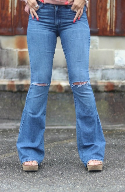 O2 | Denim Flares | Distressed