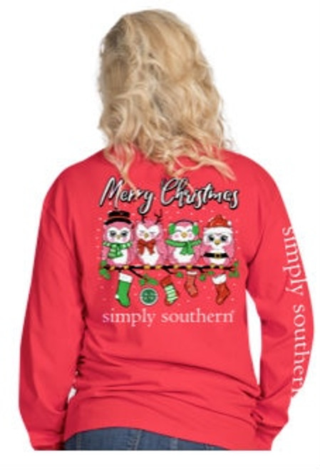 Simply Southern | Merry Christmas Owl | Red