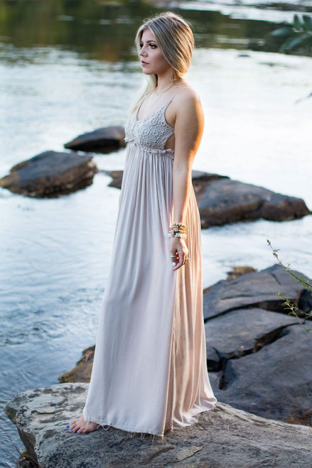 Forever & Always | Taupe Maxi Dress